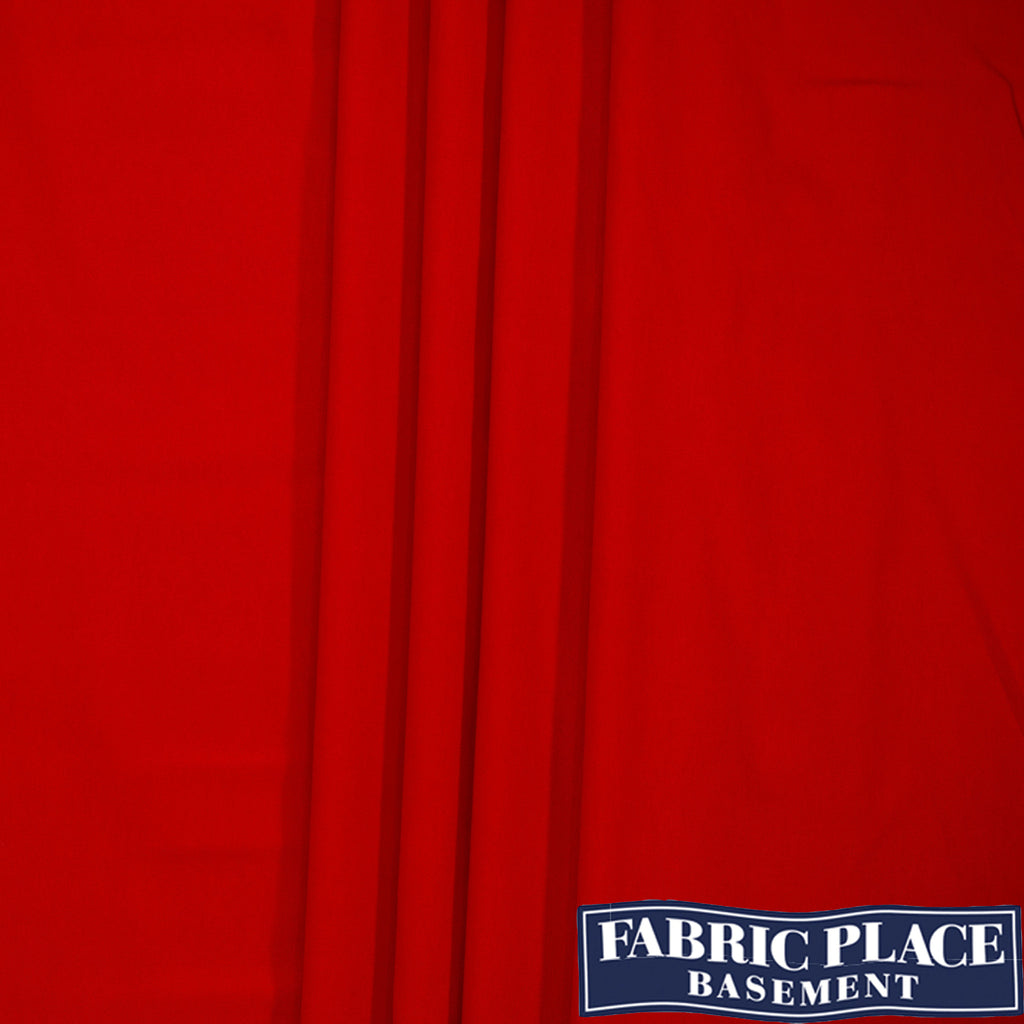 Cotton Sateen - Red