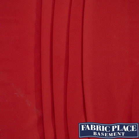 Polar Fleece (Knit Backed) - Red