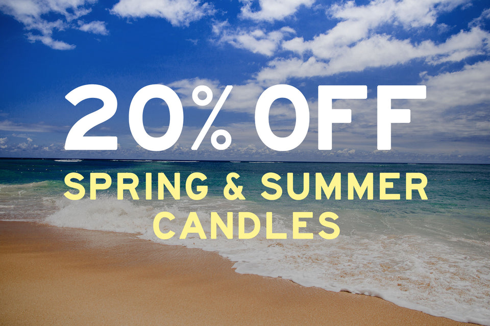 20% Off Spring & Summer Candles