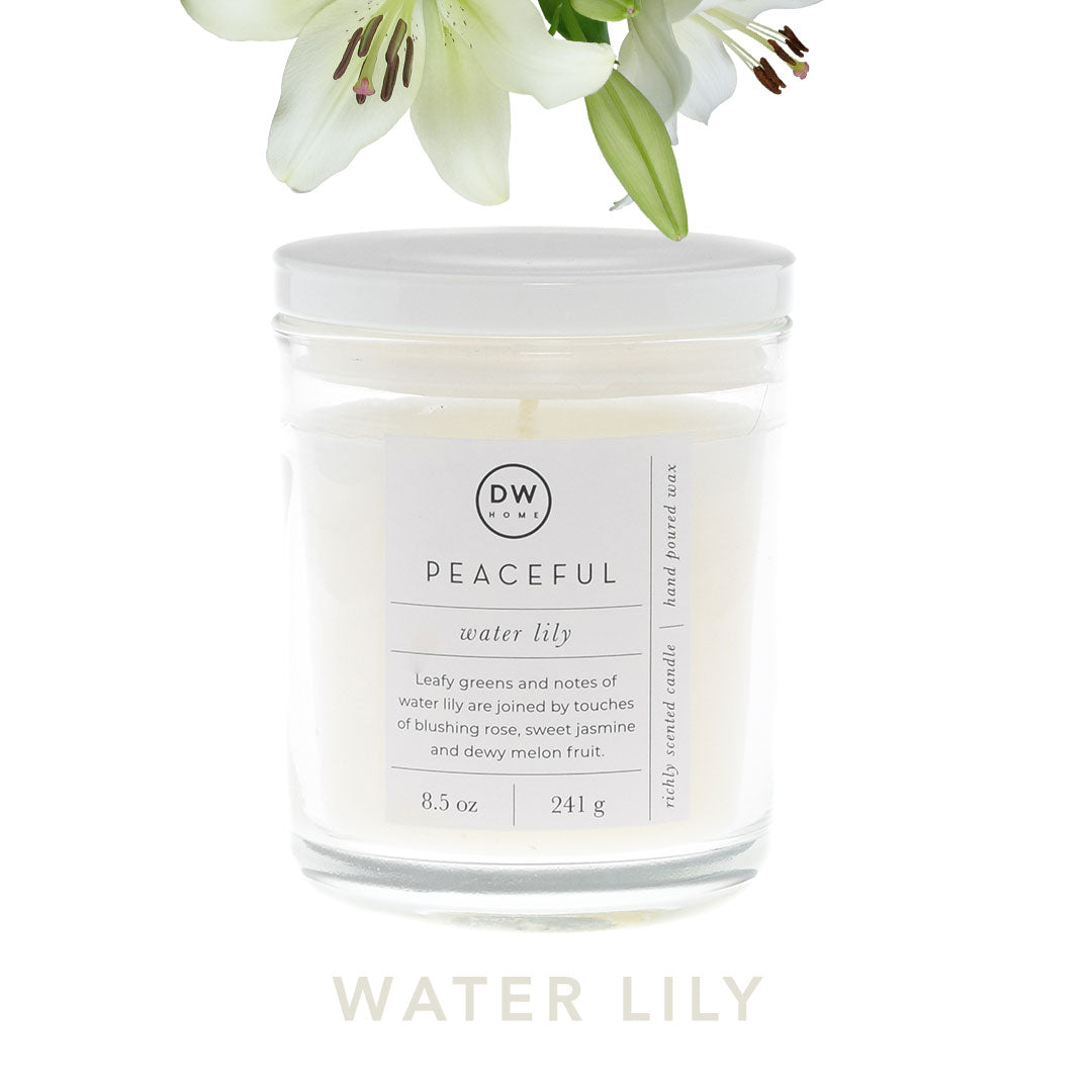 Water Lily Spa Candle Collection