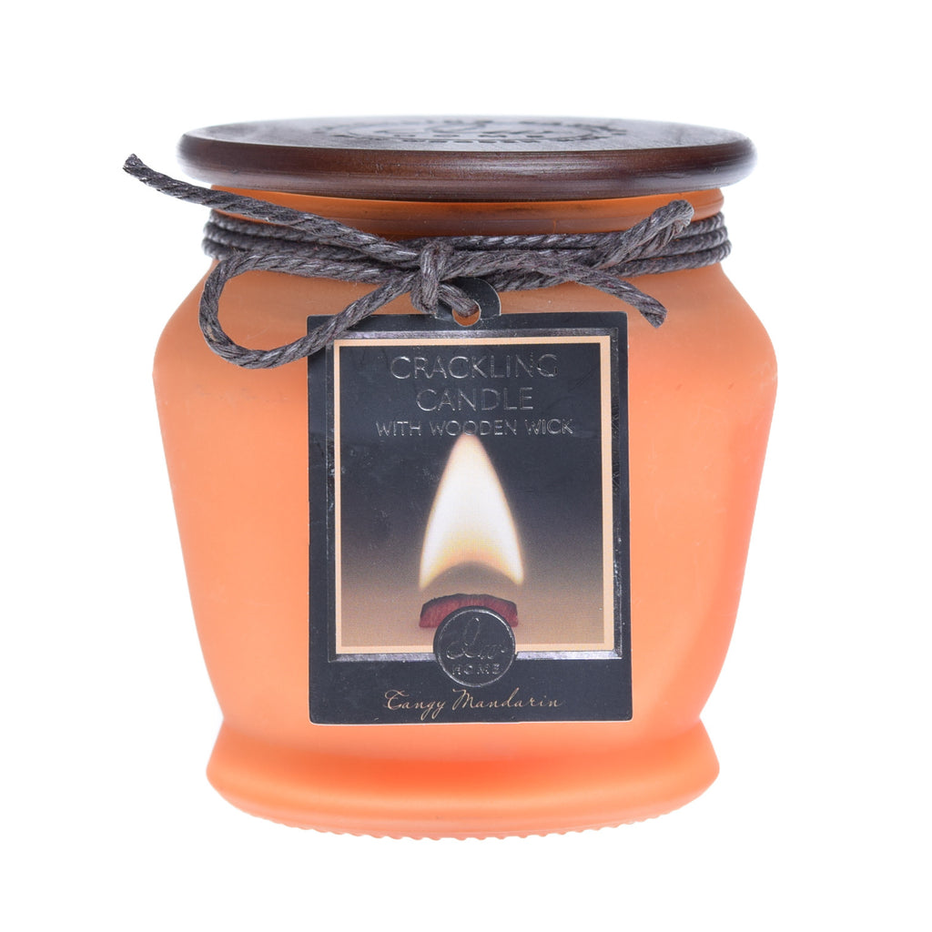 Tangy mandarin dw home crackling wooden wick scentedcandle for Top selling candle fragrances