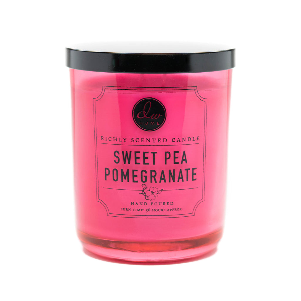 sweet pea pomegranate dw home scented candles dw4131 dw4138 dw4145 dw home candles. Black Bedroom Furniture Sets. Home Design Ideas