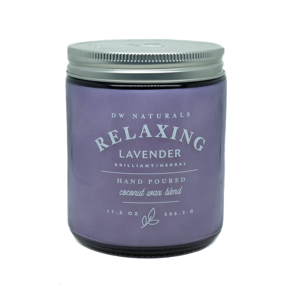 Dw Naturals Relaxing Lavender Scented Candle Coconut Wax Blend Jar Candles Home Décor