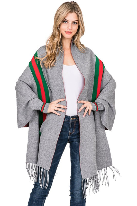Grey Gucciesque looking ponco/shawl