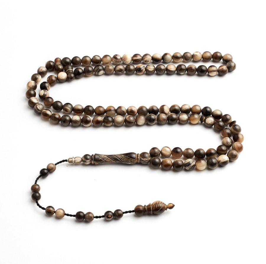 Buffalo Horn Signature Anatolian Companion BasmalaBeads- 99 Beads (8mm)