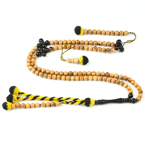 Olive Wood With Ebony Accents Traveller (6 Mm) Islamic Prayer Beads 6 Mm
