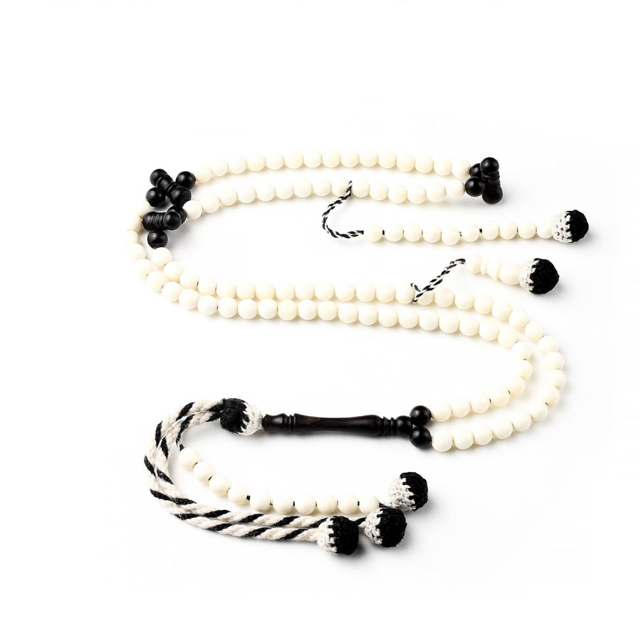 Camel Ivory with Ebony Accents Africana BasmalaBeads Traveller (6 mm) 6 mm