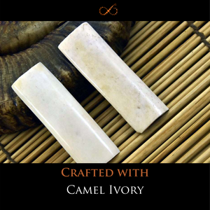 The Precious One - Wondrous Camel Ivory perfectly accented with Medinah Green Agate