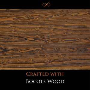 The Earthy One-  Intriguingly Grained Bocote Wood Adorned with Hand-woven Africana Tassels