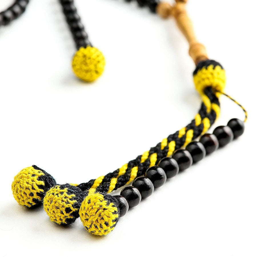 Ebony with Olive Accents Africana BasmalaBeads Traveller (6 mm)