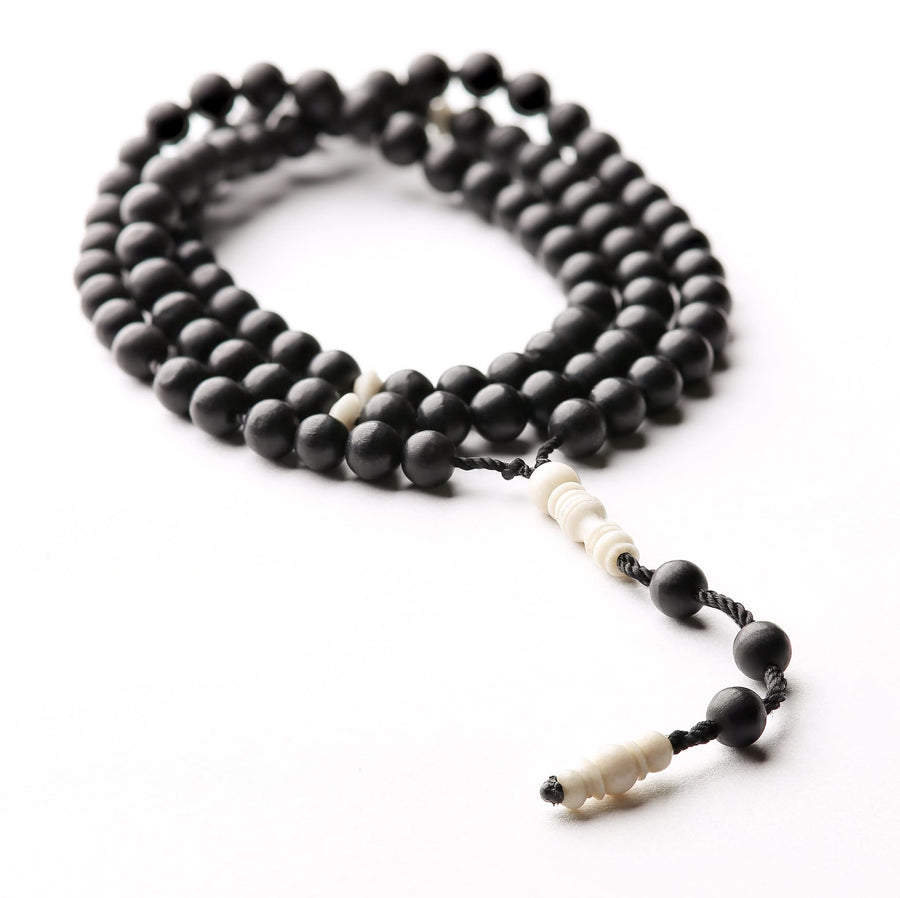 Sunrise Ebony and Camel BasmalaBracelet Companion (100 beads)