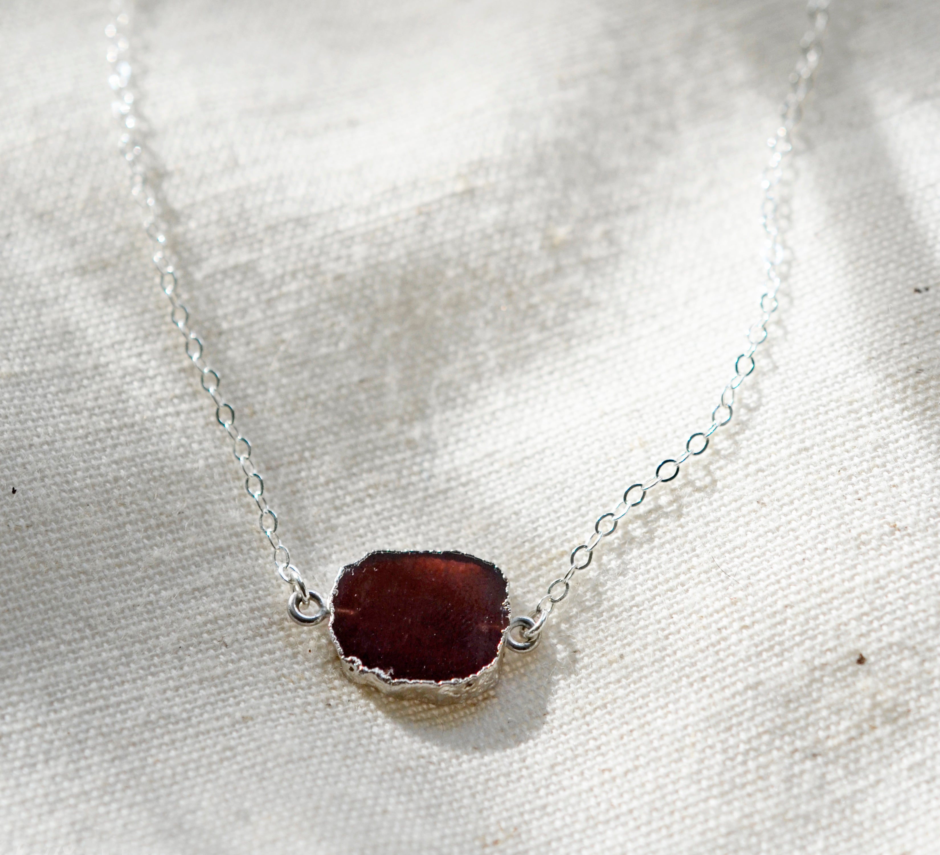 Garnet Slice Necklace