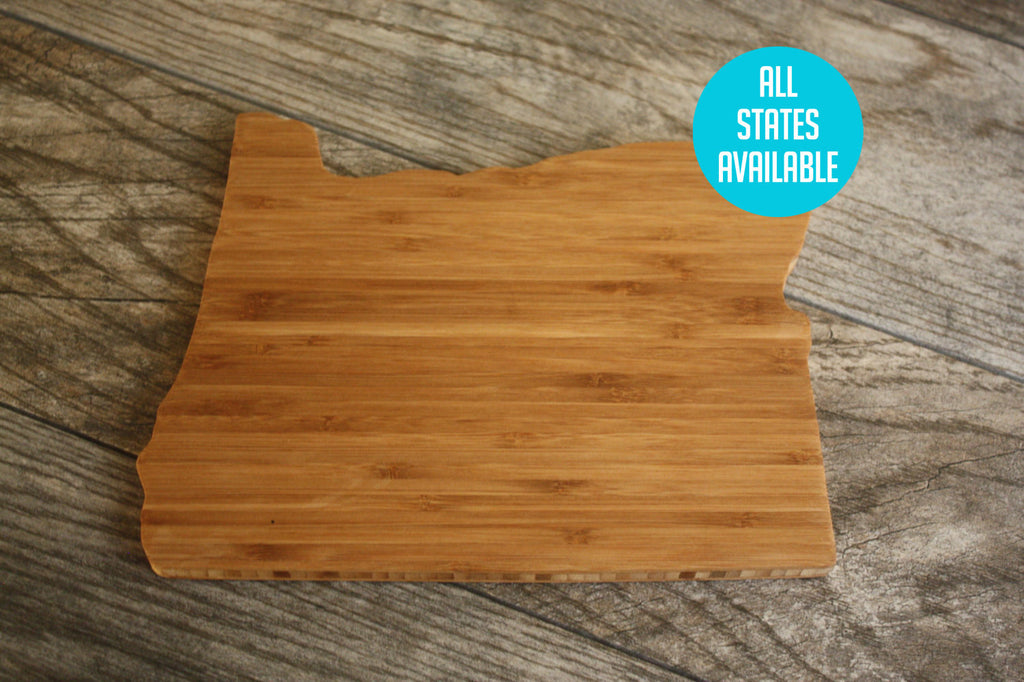 Oregon Shaped Cutting Board