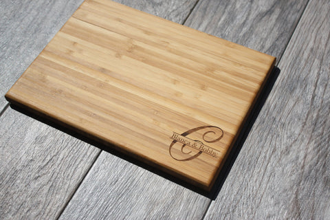 Initial Monogram Cutting Board