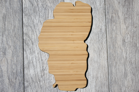 Lake Tahoe Shaped Cutting Board