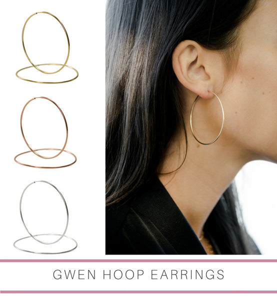 Gwen large endless hoop earrings