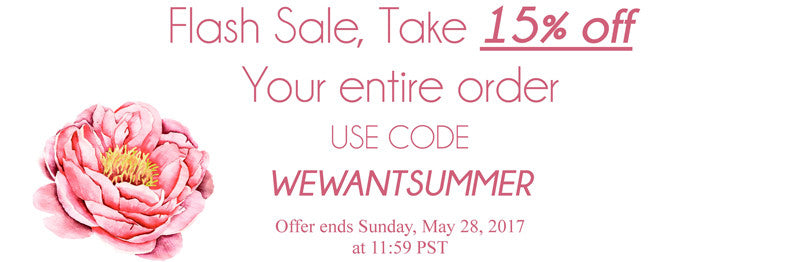 Summer Sale save 15% off