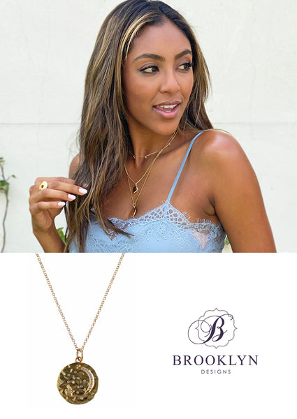 the-bachelorette-tayshia-gold-coin-Astrid-necklace
