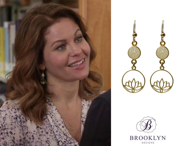 Candace Cameron Bure earrings in Aurora Teagarden Mystery