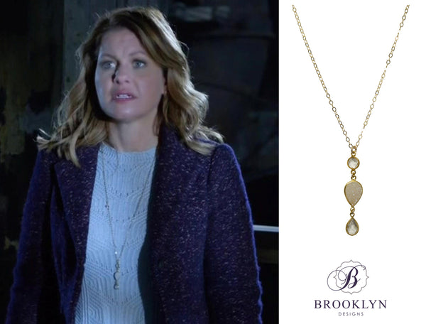 Candace Cameron Bure long necklace
