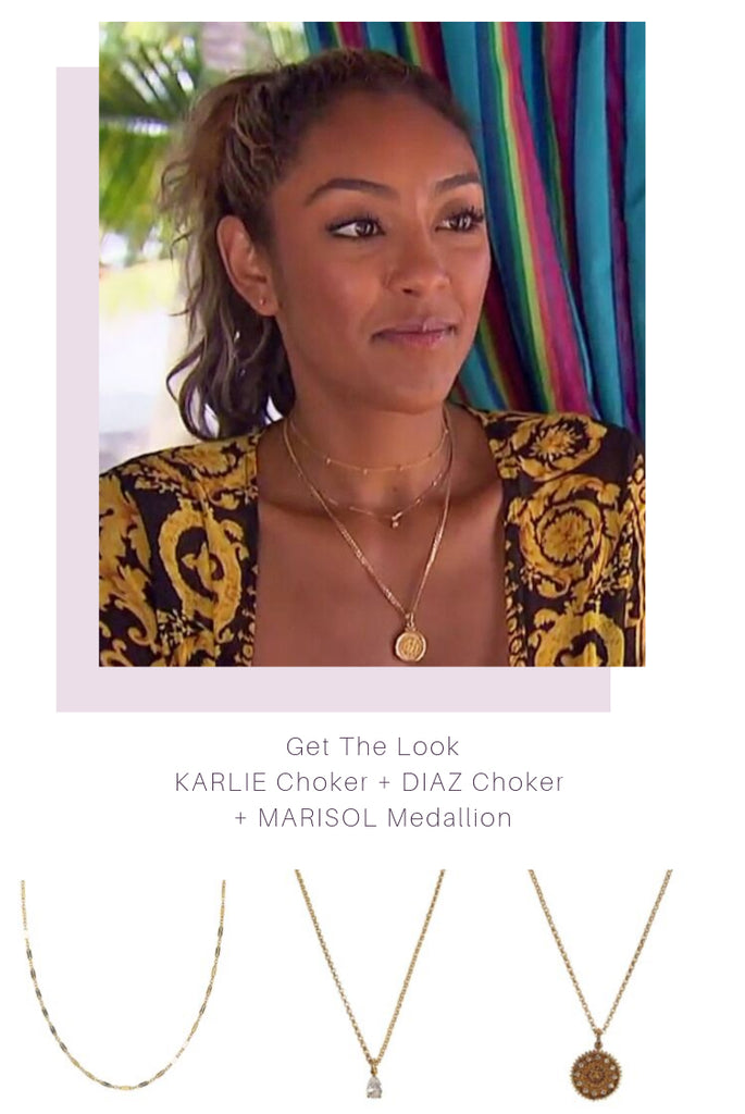 bachelor in paradise Tayshia layered necklaces