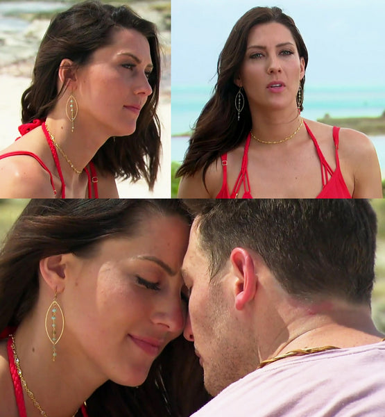 Palmer gold choker necklace worn by Becca Kufrin on The Bachelorette