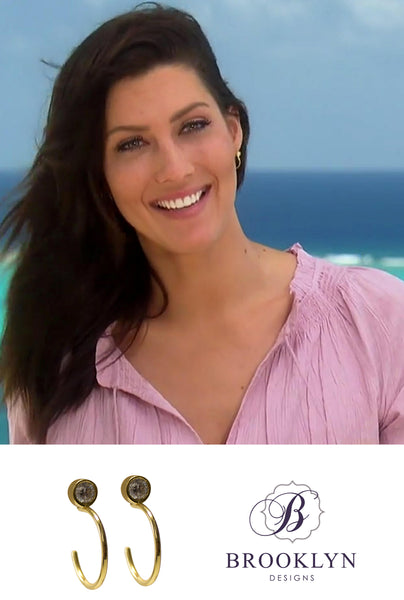 The Bachelorette Becca hoop earrings