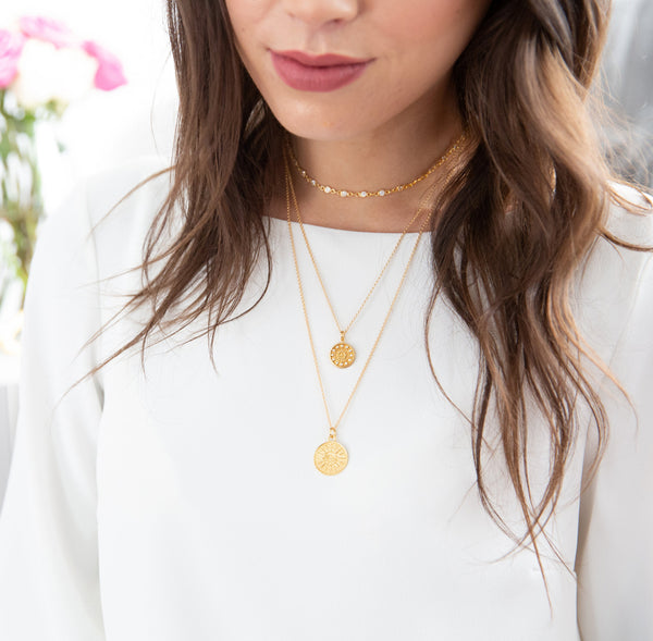Necklace layering styling tips