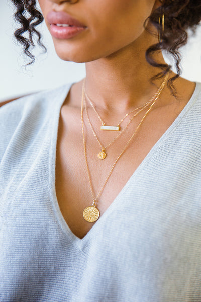 Brooklyn Designs gold medallion necklaces