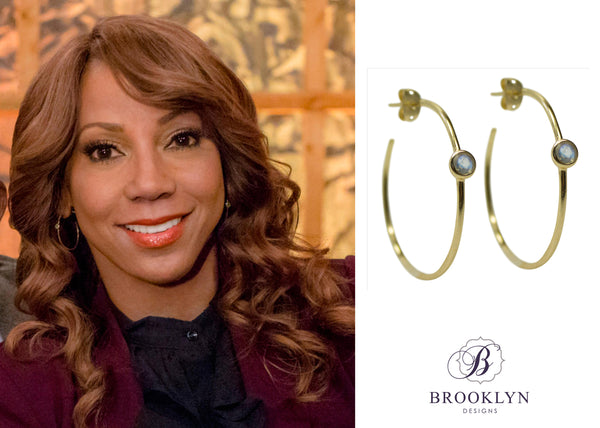 Holly Robinson Peete hoop earrings Hallmark channel