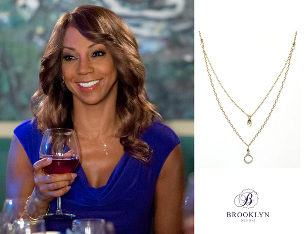 Holly Robinson Peete necklace on Morning Show Mystery Hallmark Channel