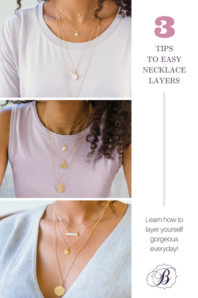 necklace layering three tips to easy layers