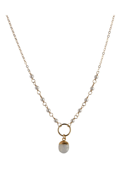 Everylee Moonstone Gold Necklace