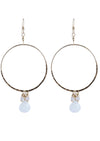 Lennox White Onyx Gold Hoop Earrings