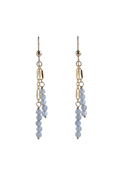 Lauren Labradorite Gold Earrings