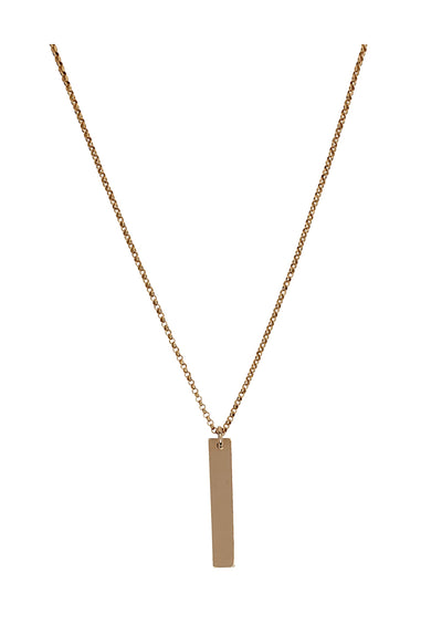 ENGRAVED Vertical Bar Gold Midi Necklace