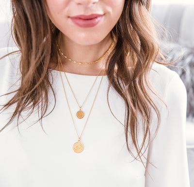 Guardian Medallion Gold Midi Necklace