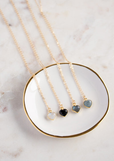 Philou Black Onyx Gold Necklace