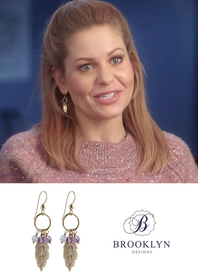 Tara Gold Earrings *As Seen On Canadace Cameron Bure*