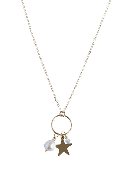 ENGRAVED Star Gold Charm Necklace *As Seen On Candace Cameron Bure*