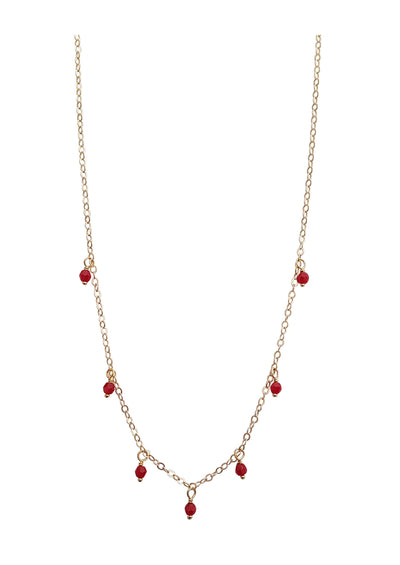 Blossom Red Gold Choker * As Seen On Riverdale *