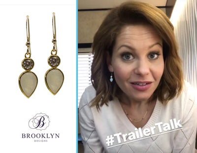 Romy Rainbow Moonstone Gold Earrings *As Seen On Candace Cameron Bure*