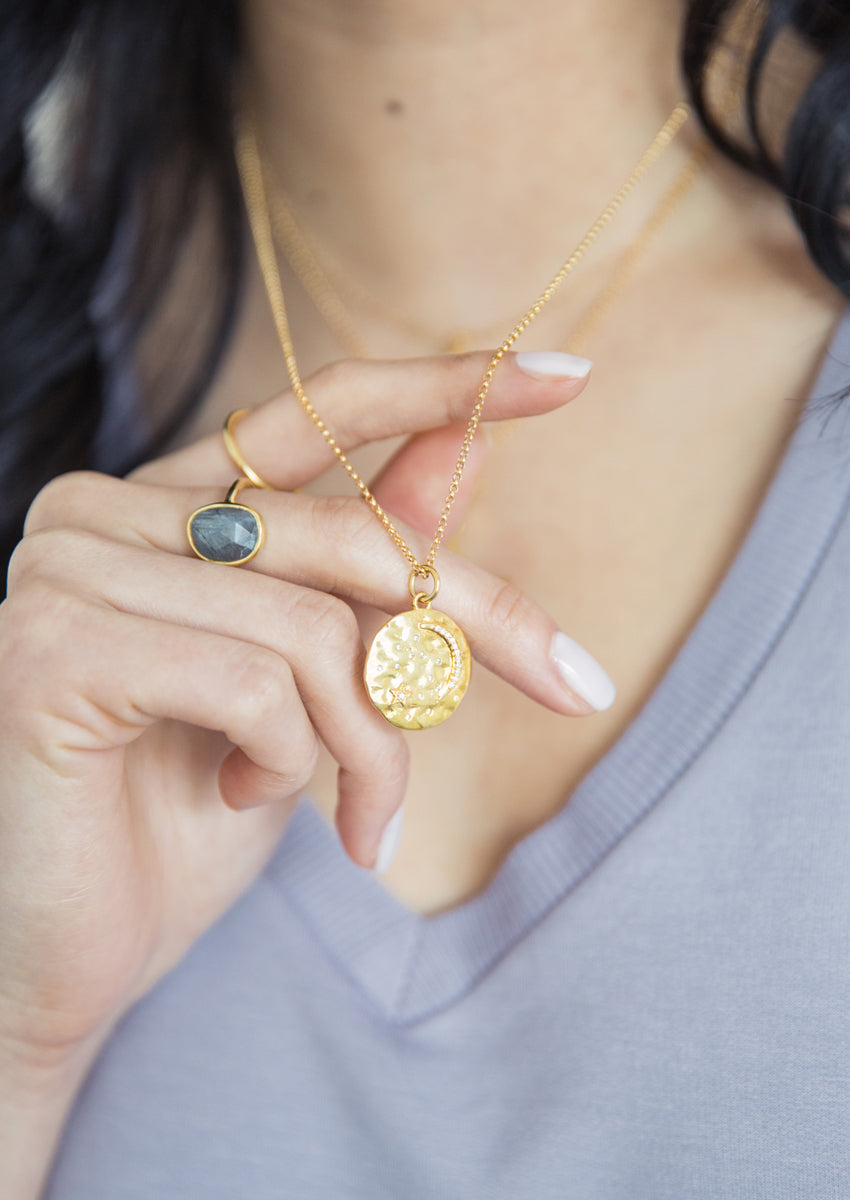 Astrid Gold Medallion Necklace As Seen On The Bachelorette Brooklyn Designs