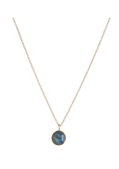 Darcy Labradorite Gold Necklace