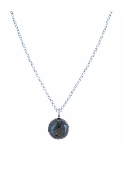 Darcy Labradorite Silver Necklace