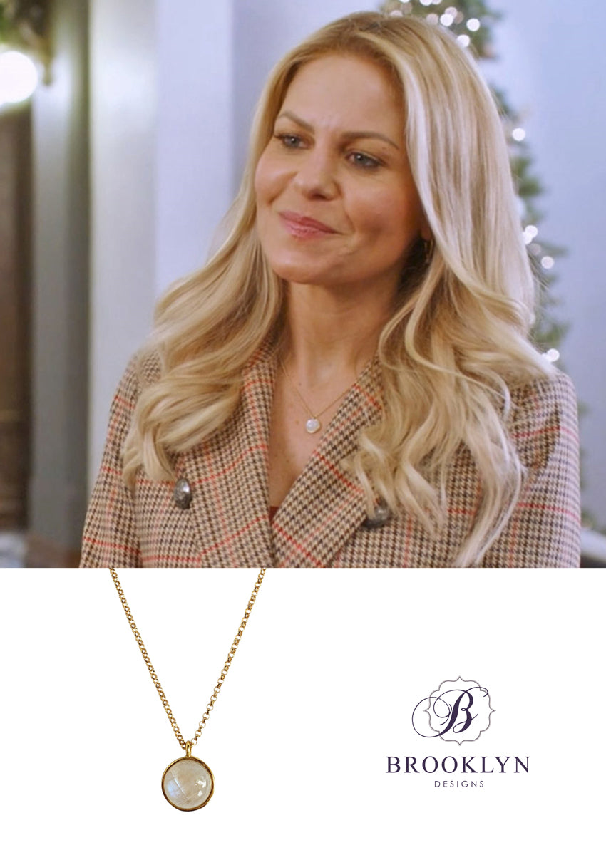 Darcy Rainbow Moonstone Gold Necklace *As Seen On Candace Cameron Bure*