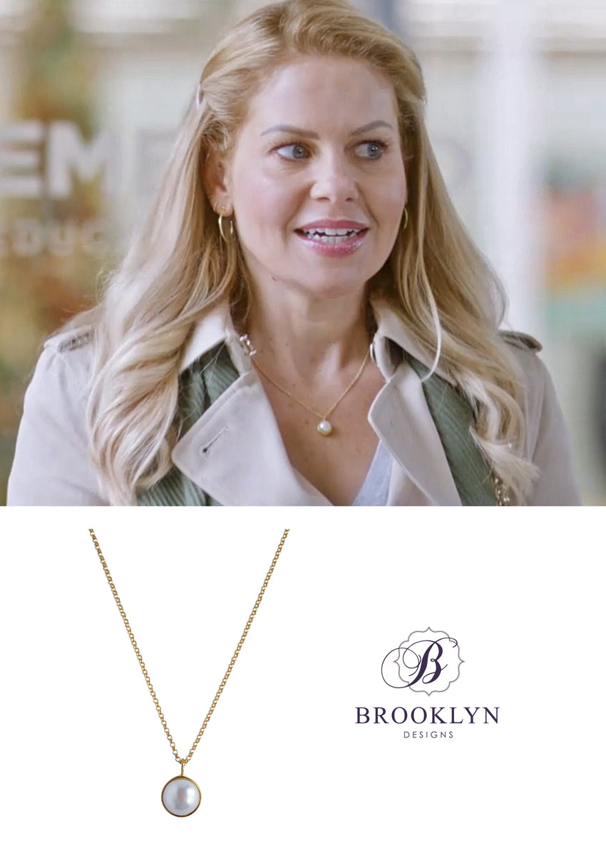 Darcy Freshwater Pearl Gold Necklace *As Seen On Candace Cameron Bure*