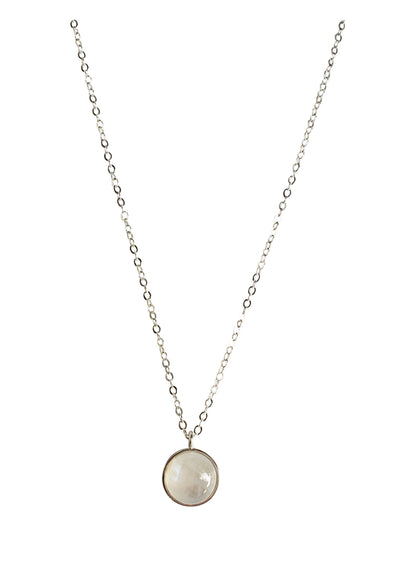 Darcy Rainbow Moonstone Silver Necklace
