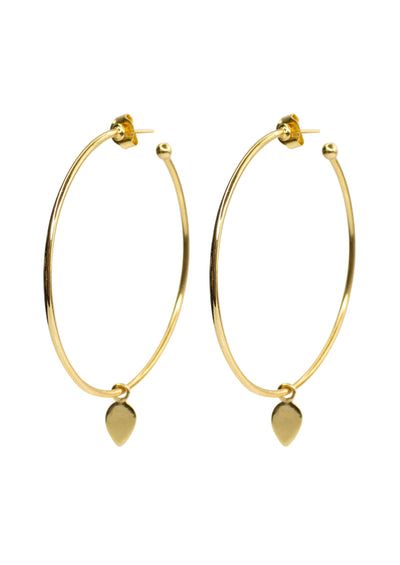 Dawson Gold Hoop Earrings *As Seen On Candace Cameron Bure*