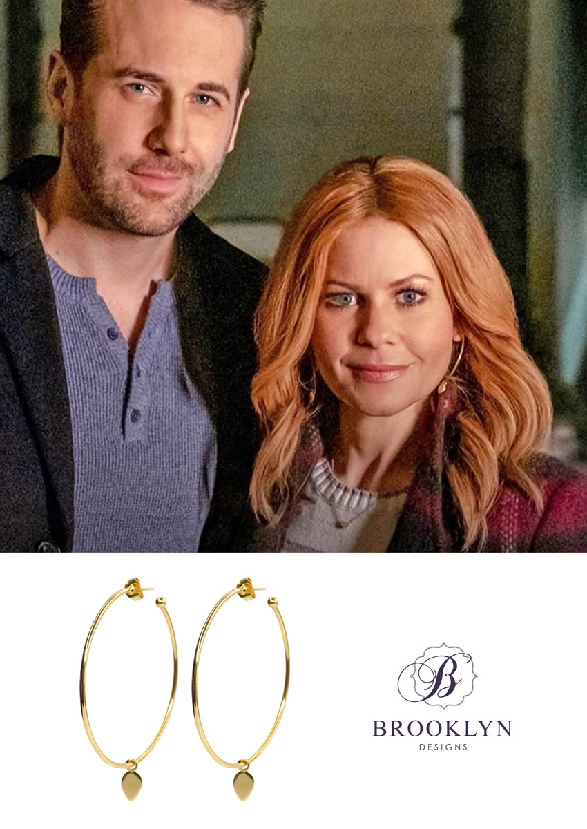 Dawson Gold Hoop Earrings *As Seen On Candace Cameron Bure & Riverdale*